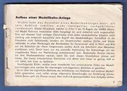 Kleines Buch - AUFBAU EINER MODELLBAHNANLAGE, 94 Seiten, Fehlender Umschlag (7Scans) - Deutsch