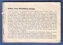 Kleines Buch - AUFBAU EINER MODELLBAHNANLAGE, 94 Seiten, Fehlender Umschlag (7Scans) - Duits