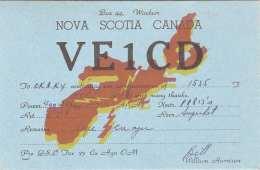 QSL Karte NOVA SCOTIA CANADA 1946 - Radio