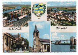 UCKANGE-1970--Multivues (usine,vue Aérienne,pont,blason) , Cpsm 15 X 10 N° 1 C  éd Combier.......à Saisir - France