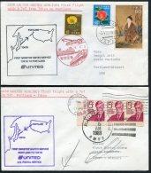 1983 Japan Germany Tokyo / Portland First Flight Covers (2) - Poste Aérienne