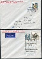 1971 Austria Germany Wien / Frankfurt First Flight Covers (2) - First Flight Covers