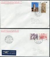 1984 Cyprus / Switzerland Larnaca /  Zurich First Flight Covers (2) - Cyprus (Republic)