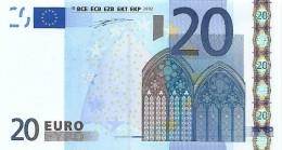 Billet 20 Euros 2002 Signature Wim Duisenberg - RARE DANS CET ÉTAT - EURO