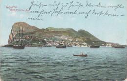 AK Gibraltar Rock From The Bay Harbour Port Porto Puerto Hafen Schiff Ship Ferry La Linea De La Concepcion Algeciras - Gibraltar