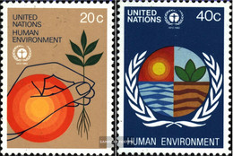 UN - New York 394-395 (complete Issue) Unmounted Mint / Never Hinged 1982 Our Environment - Unused Stamps