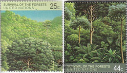 UN - New York 547-548 (complete Issue) Unmounted Mint / Never Hinged 1988 Save The Forest - Unused Stamps