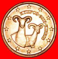 § GREECE: CYPRUS ★ 1 CENTS 2015 UNC MINT LUSTER Uncommon! LOW START ★ NO RESERVE! - Chypre