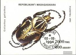 Madagascar Block254 (complete Issue) Fine Used / Cancelled 1994 Beetles - Madagascar (1960-...)