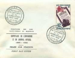 1966  Centenaire De L'imprimerie Et Du Journal Officiel  Yv  PA 37    FDC Officiel - FDC