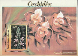 Kongo (Brazzaville) Block137 (complete Issue) Unmounted Mint / Never Hinged 1999 Orchids - Congo - Brazzaville