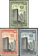 Haiti 645-647 (complete Issue) Unmounted Mint / Never Hinged 1960 15 Years UN - Haiti