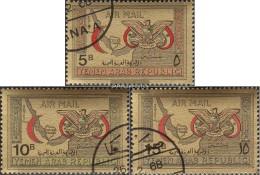 North Yemen (Arab Republic.) 727-729 (complete Issue) Fine Used / Cancelled 1968 Red Crescent - Yemen