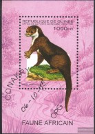 Guinea Block495 (complete Issue) Fine Used / Cancelled 1995 African Animals - Guinea (1958-...)