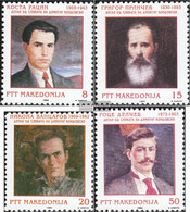 Makedonien 24-27 (complete Issue) Unmounted Mint / Never Hinged 1994 Personalities - Macedonia