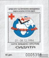 Makedonien Z Block12a (complete Issue) Zwangszuschlagsmarken Unmounted Mint / Never Hinged 1994 Red Cross - Macedonia