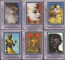 North Yemen (Arab Republic.) 1040-1045 (complete.issue.) Unmounted Mint / Never Hinged 1970 Tutenchamun And His Time - Yemen