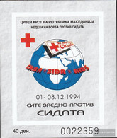 Makedonien Z Block12b (complete.issue.) Zwangszuschlagsmarken Unmounted Mint / Never Hinged 1994 Red Cross - Macedonia