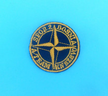 SFOR - United Nations Peacekeeping Mission In Bosnia Patch GERMANY ARMY Deutschland Armee Flicken KNEZEVO SKENDER VAKUF - Patches
