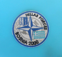 SFOR - United Nations Peacekeeping Mission In Bosnia Patch * GREECE ARMY - HELLAS FORCES * Armee Flicken UN Forces - Patches