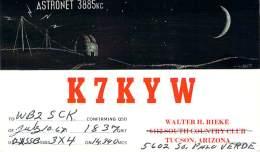 Amateur Radio QSL Card - K7KYW - Mobile Benewah County Idaho -USA- 1967  - 2 Scans - Radio Amateur