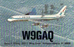 Amateur Radio QSL Card - W9GAQ - Arlington Heights, IL -USA- 1966 - 2 Scans - Radio Amateur