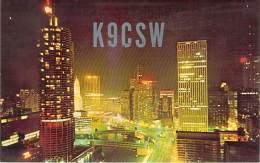 Amateur Radio QSL - K9CSW - Chicago, IL -USA- 1967 - 2 Scans - Radio Amateur