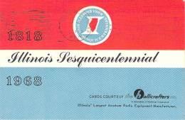 Amateur Radio QSL - WA9CNV - Chicago, IL -USA- 1968 - 2 Scans - Radio Amateur