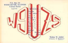 Amateur Radio QSL - W9UZS - Wood River, IL -USA- 1966 - 2 Scans - Radio Amateur
