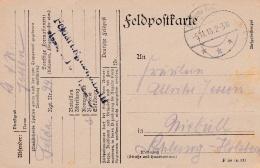 Feldpost WW1: Feldartillerie Regiment 24 P/m  5.11.1918 - Plain Postcard  (SKO10-32) - Militaria