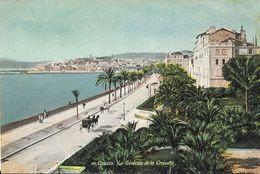Cannes - Vue Générale De La Croisette - Edition L.V. & Cie - Carte Aqua-photo N°20, Colorisée, Non Circulée