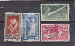 FRANCE   1924  Y.T. N° 183  à  186  Oblitéré - France