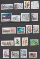 """D17 - 2016 - 20 TIMBRES """"GOMMES"""" OBLITERES DIFFERENTS - France"""