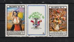 1991 -  Balcanfila 91   Mi No 4675/4676 Et YV  No 3951/3952  MNH - 1948-.... Republiken