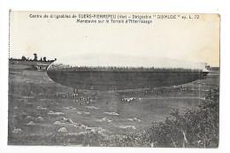 CUERS-PIERREFEU  (cpa 83) Dirigeable DIXMUDE L 72 - Manoeuvre Sur Le Terrain D'atterrissage  - L1 - Cuers