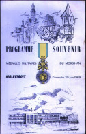 Programme Souvenir Médaillés Militaires Du Morbihan, Malestroit 1969 - Libri, Riviste & Cataloghi