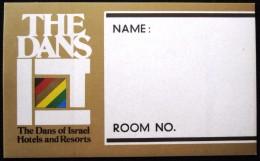 HOTEL MOTEL PENSION RESIDENCE HOUSE DAN JERUSALEM TEL AVIV HAIFA ISRAEL STICKER DECAL LUGGAGE LABEL ETIQUETTE AUFKLEBER - Hotel Labels