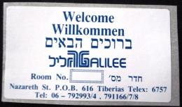 HOTEL MOTEL MINI GALILEE GALIL NAZARETH GALILEE VINTAGE OLD ISRAEL TAG STICKER DECAL LUGGAGE LABEL ETIQUETTE AUFKLEBER - Hotel Labels