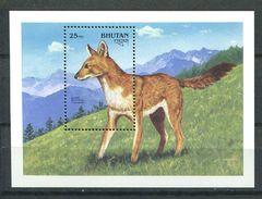 170 BHOUTAN 1991 - Yvert BF 300 - Chien Sauvage - Neuf ** (MNH) Sans Trace De Charniere - Bhoutan