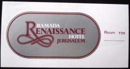 HOTEL MOTEL RENAISSANCE JERUSALEM VINTAGE OLD ISRAEL TAG STICKER DECAL LUGGAGE LABEL ETIQUETTE AUFKLEBER - Hotel Labels