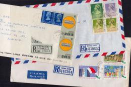 C0346 HONG KONG, 3 @ Registered Covers To UK - Otros