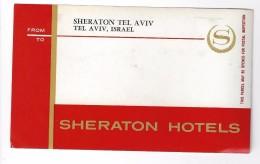 HOTEL MOTEL SHERATON TEL AVIV VINTAGE OLD ISRAEL TAG STICKER DECAL LUGGAGE LABEL ETIQUETTE AUFKLEBER - Hotel Labels