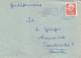 Saarland Mi. 414 Auf Brief Gest. - Ansehen!! - 1957-59 Bundesland