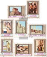 Umm Al Kaiwain 594A-601A (completa Edizione) Usato 1972 2500 Anni. Persisches Empire - Umm Al-Qiwain