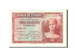 Espagne, 10 Pesetas, 1935, KM:86a, Undated, TTB+ - [ 2] 1931-1936 : République