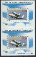 Mali Bloc N° 16/17** (MNH) 1er Et 2eme Vol Spatial (Colombia 1981) - Space