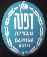 HOTEL MOTEL DAPHNA TIBERIAS GALILEE JERUSALEM VINTAGE OLD ISRAEL TAG STICKER DECAL LUGGAGE LABEL ETIQUETTE AUFKLEBER - Hotel Labels