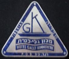 HOTEL PENSION RESIDENCE GUEST HOUSE GUBERMAN TIBERIAS GALILEE ISRAEL STICKER DECAL LUGGAGE LABEL ETIQUETTE AUFKLEBER - Hotel Labels