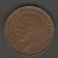 GRAN BRETAGNA FARTHING 1927 - B. 1 Farthing