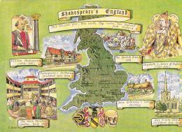 CPM - Carte Géographique - Royaume Uni - Maps